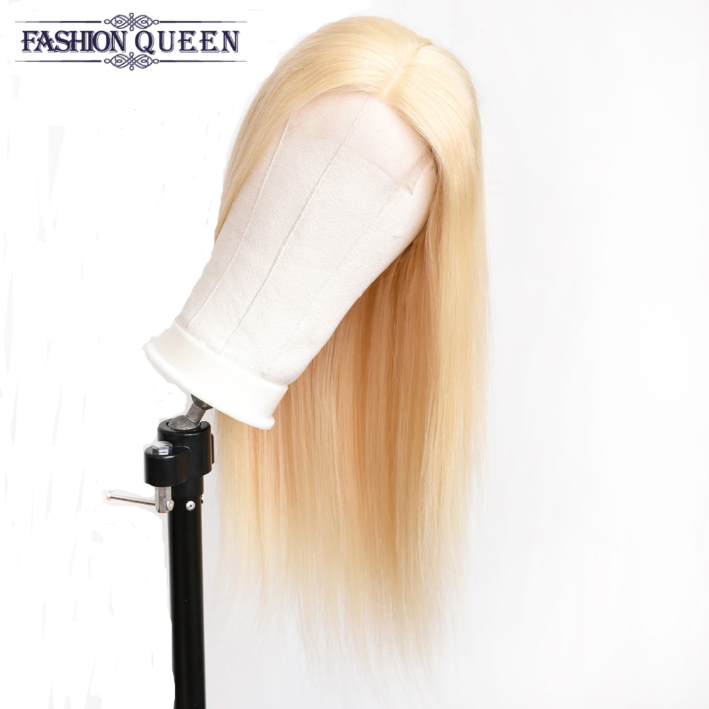 Brazilian Human Hair Wigs 4x4 Lace Closure Wig Straight Hair Preplucked Non-remy Wigs For Women Fashion Queen