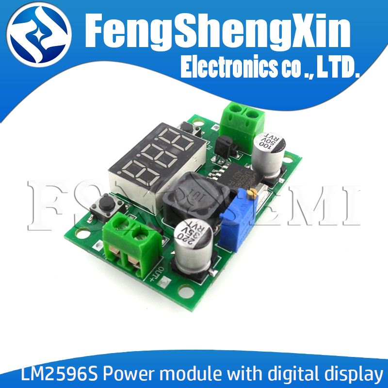 LM2596S LM2596 DC 4,0 ~ 40 bis 1,3-37 V Einstellbar Step-Down Power Module + LED-Voltmeter DC-DC modul