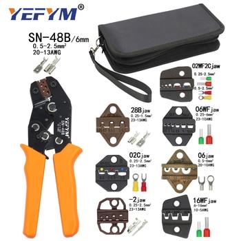 Alicatesde prensado, herramientas SN-48B 7 mandíbula para Tab 2,8 4,8 6,3 Pulg/tubo/terminales de aislamiento Kit bolsa herramientas de abrazadera de reparación eléctrica Mini 2