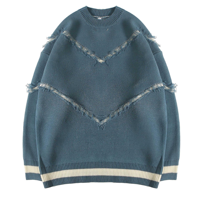 גברים של מגשרים סרוגים סוודר קשמיר סוודר צווארון עגול זברה שילוב חולצות חיצוני אופנה עבור צעירים בני סתיו חורף