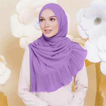 Muslim women Wrap head Scarf bubble Chiffon hijab shawl scarfs Islamic Clothing Inner Hijab Turbans For Women Arab Headscarf 70 180cm solid color chiffon female wrapped scarf arab turkish inner hijab muslim lady shawl turban islam headscarf for women