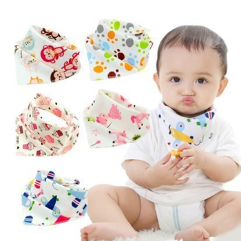Baby Bibs Waterproof Triangle Natural Cotton Cartoon Bandana Bibs Soft Newborn Slabber Absorbent Cloth for Drooling and Teething premium baby bandana bibs extra soft natural cotton baby drool bib for drooling and teething super absorbent baby shower gift
