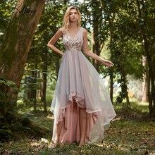 Элегантное женское вечернее платье асимметричное без рукавов