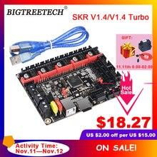 BIGTREETECH BTT SKR V1.4 BTT SKR V1.4 توربو 32 بت لوحة تحكم ترقية SKR V1.3 TMC2208 TMC2209 سائق للطابعة ثلاثية الأبعاد Ender3