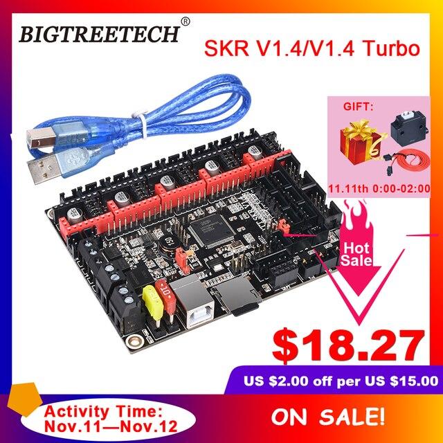 BIGTREETECH BTT SKR V1.4 BTT SKR V1.4 Turbo 32 Bit Control Board Upgrade SKR V1.3 TMC2208 TMC2209 Driver for Ender3 3d Printer