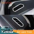 Автомобильная опорная решетка вентиляционного отверстия рамка наклейки украшение отделка ободок Обложка Стайлинг для Volkswagen VW T-cross Tcross 2019 ...