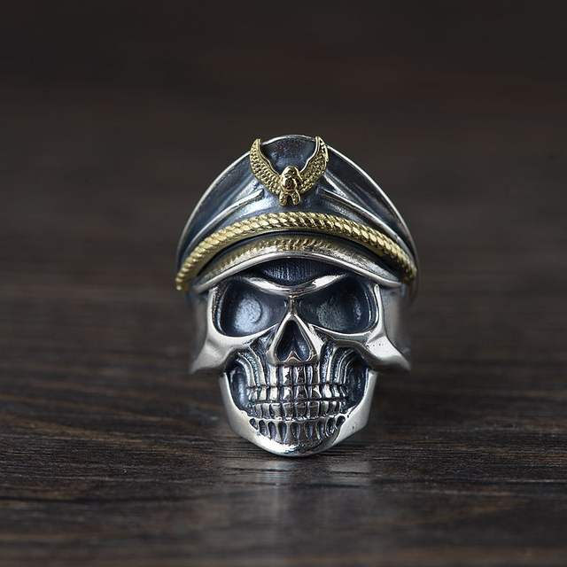 ORIGINAL 925 STERLING SILVER SKULL SOLDIER RINGS