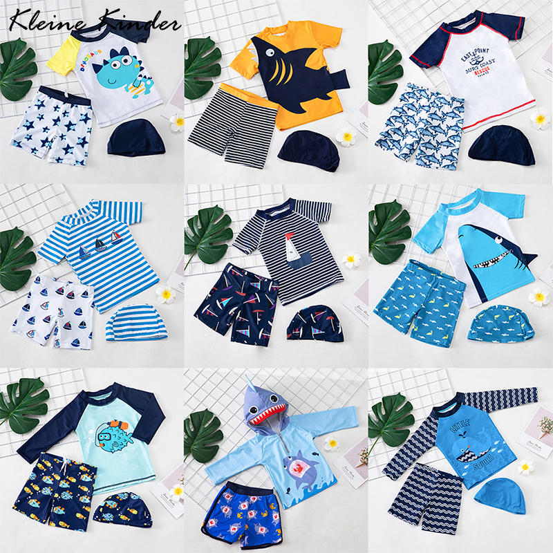 Swimsuit Baby Boy Children's Bathing Suit 3 Pieces Anti UV Boys Swimwear Summer Toddler Children Swimming Suit Beachwear Kids