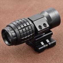 Fucile Red Dot Sight Portata 3x Lente di Ingrandimento Compact Sight Per Flip Side Picatinny Della Pistola Rail Mount M7600