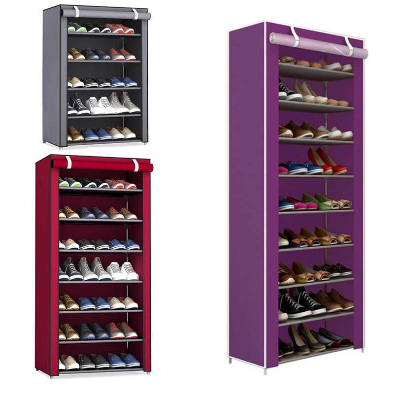Nicht-woven Stoff Lagerung Schuh Rack Flur Schrank Veranstalter Halter 4/5/6/8/9 Schichten Montieren Schuhe Regal DIY Home Möbel