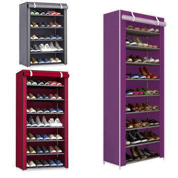 Non-woven Fabric Storage Shoe Rack Hallway Cabinet Organizer Holder 4/5/6/8/9 Layers Assemble Shoes Shelf DIY Home Furniture - discount item  47% OFF Home Furniture