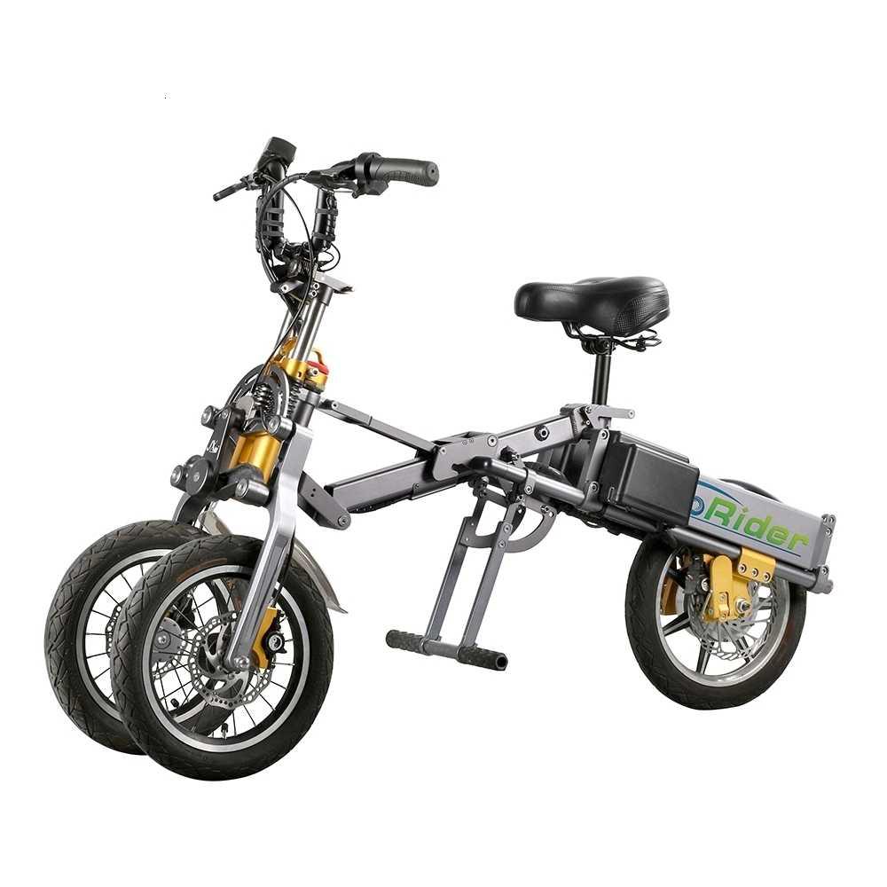 Eco-piloto elétrico E6-7 novo triciclo/3 roda bicicleta elétrica com luz led para adulto 48v 500w qicycle veículo elétrico