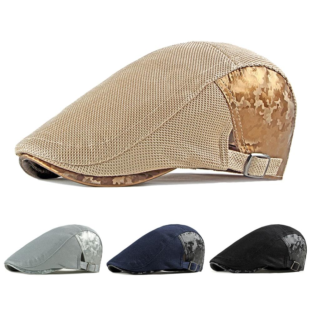 Повседневные весенне-летние кружевные береты шляпа для женщин камуфляж с закруглёнными краями и пуговицей сверху шапки для мужчин кепки дл...