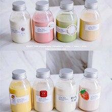 50pcs 250/350ml Tea Milk Fruit Water Cup Beverage Water Bottle Disposable Yogurt Food Grade Bottle Milk Tea Shop Juice Bottle
