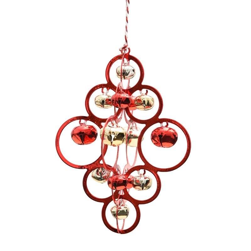 Рождественская подвеска-колокольчик украшения металлические декоративные колокольчики Рождественская елка украшения стены потолок окно Декор рождественские принадлежности