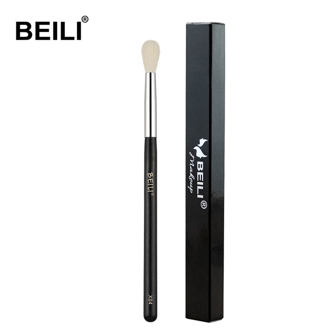 BEILI X04 white Goat Hair mixed Synthetic hair Eye Shadow Blending Single Makeup Brushes Glitter Handle
