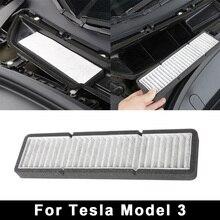Автомобильный Кондиционер Впускной фильтр для Tesla модель 3 Нетканая белая отделка оправа для водителя украшения интерьера