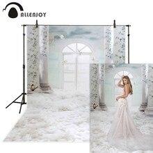 Allenjoy casamento background boda fotografia branco nuvem interior janela do chuveiro do bebê fundo photocall photo studio adereços vinil