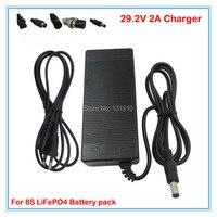 24v 배터리 충전기 29.2 v 2a 충전기 29.2 v lifepo4 배터리 충전기 dc 포트 8 s 24v lfp 배터리 팩 무료 배송|충전기|가전제품 -