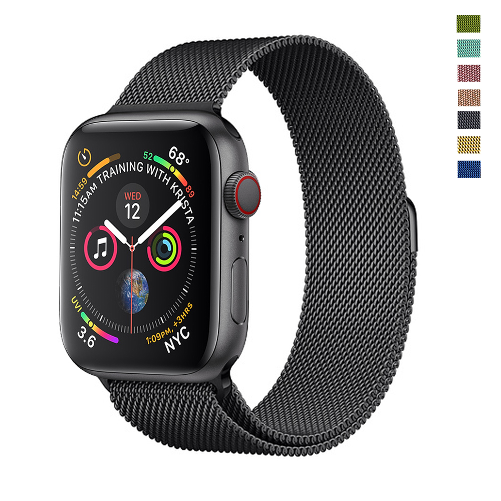 Strap For Apple Watch Band 44mm 40mm IWatch 5 4 3 2 Milanese Loop Band 42mm 38 Mm Stainless Steel Bracelet Watchband Accessories