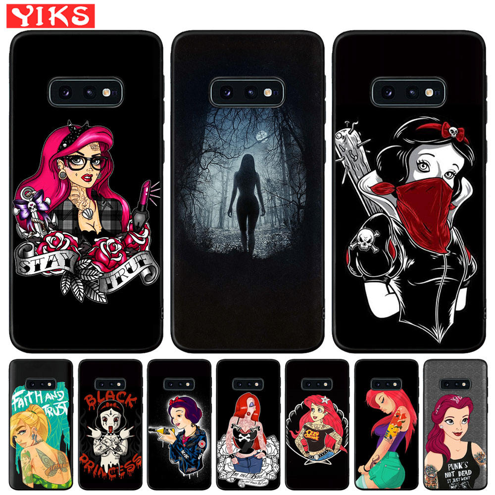 Soft TPU Phone <font><b>Case</b></font> For Samsung Galaxy <font><b>S8</b></font> S9 S10 5G Plus S10e S10 5G Note 10 Plus 8 9 S7 Edge <font><b>Sexy</b></font> Sleeve Tattoo Girl Woman Etui image