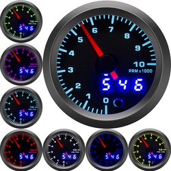 7 colors tachometer boat 2'' 52mm Universal Smoke Lens Auto rpm meter LED digital 0-10000 RPM Gauge inter Car tacometro