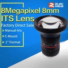 """8,0 мегапикселей C Mount 8 мм """" F1.4 его коррекция объективы с фиксированным фокусным расстоянием промышленная камера ручная диафрагма cctv объектив"""