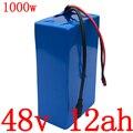 48В батарея 48В 12Ач батарея для электровелосипеда 48В 12Ач литий-ионная батарея для 48В 500 Вт 750 Вт 1000 Вт мотор для электровелосипеда с зарядным ус...