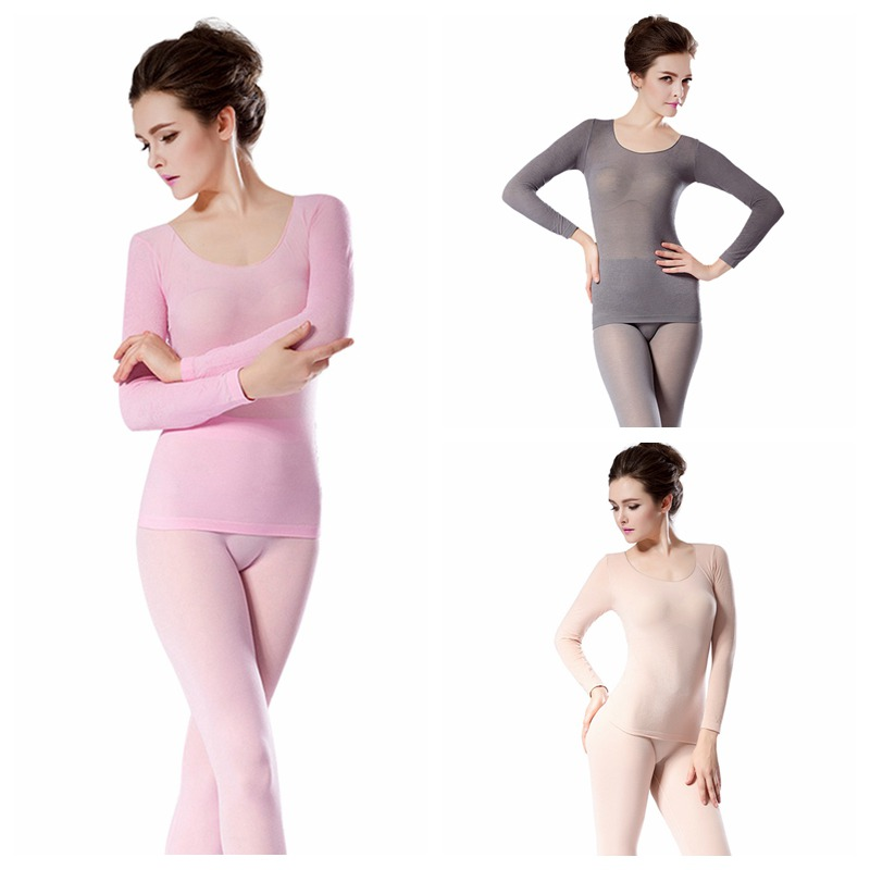 Spring Autumn 37 Degree Constant Temperature Thermal Sets For Women Warm Winter Clothing Two Piece Set Conjuntos De Mujer