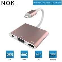 4 in 1 Digital  Audio Video HDTV Converter For Lightning to VGA HDMI AV Adapter For iPhone Xs X 8 7 6plus For iPad Air/mini/pro цены онлайн