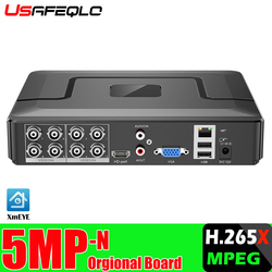 Гибридный видеорегистратор 5 в 1, H.265X 4ch 5M-N 8CH 1080NH HVR, CCTV, поддержка AHD/TVI/CVI/CVBS/IP-камер ONVIF NVR
