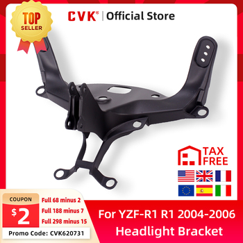 CVK Headlight Bracket Motorcycle Upper Stay Fairing For YAMAHA YZF 1000 R1 2004 2005 2006 YZF-R1 04 05 06 Parts free shipping upper fairing stay bracket for yamaha r6 2006 2007 r6s 2006 headlight fairing stay bracket