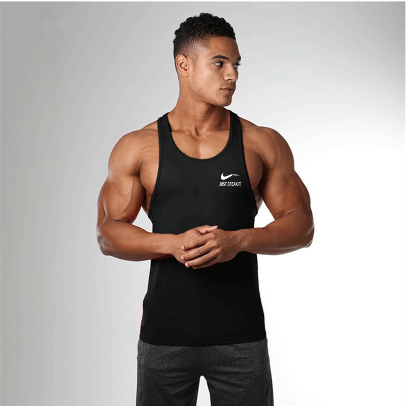 Muscle Cotton Gym Tank Tops Men Sleeveless Tanktops For Boys Bodybuilding Clothing Undershirt Fitness Stringer Workout Vest