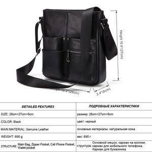 Image 2 - MISFITS 2020 nuovo cuoio genuino degli uomini borsa uomo borsa a tracolla di modo di affari della cartella crossbody bolsos borsa hombre maschio borse a tracolla