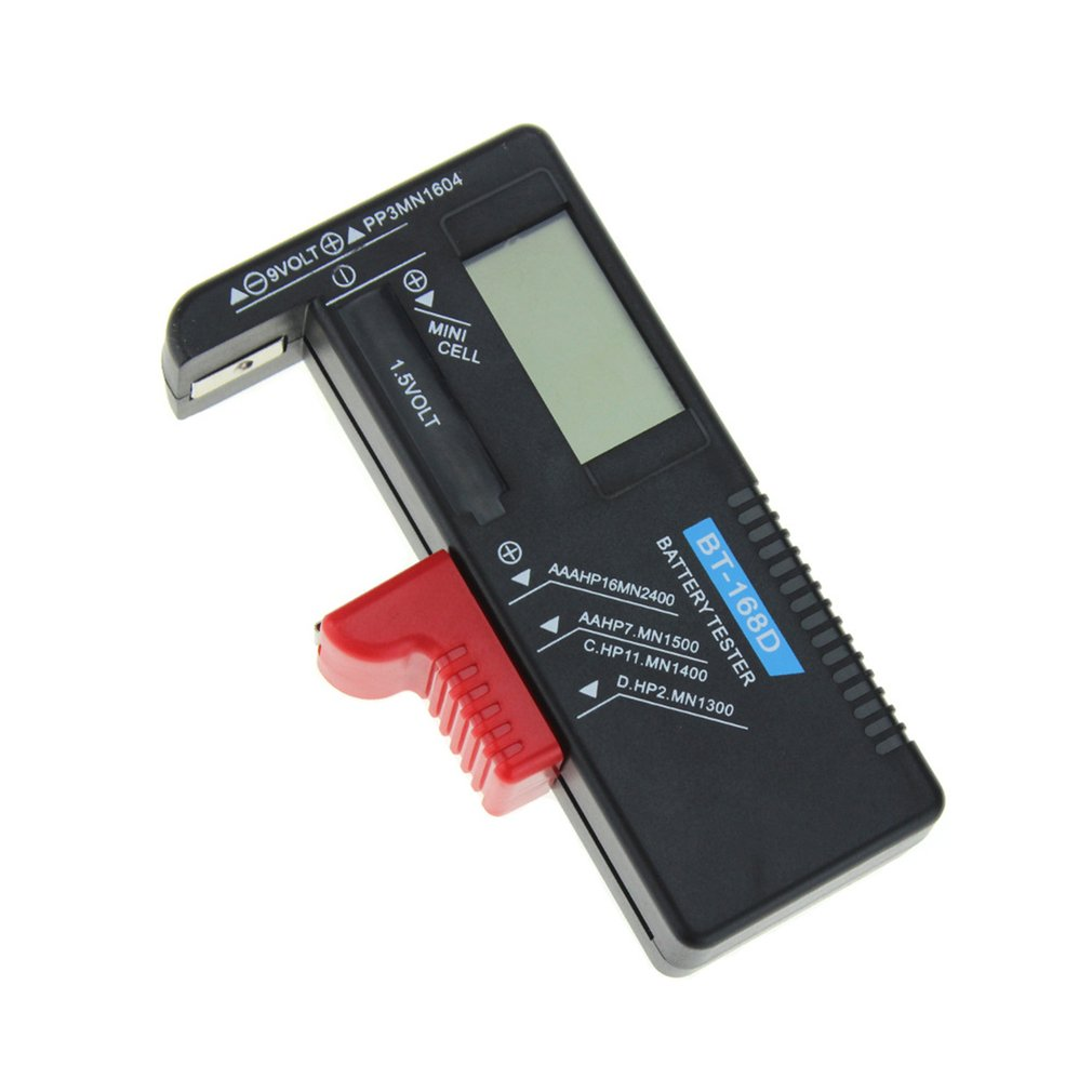 BT168D Battery Tester Digital Display Battery Capacity Tester For 9v No.1/2/5/7 Button Battery Direct Digital Display
