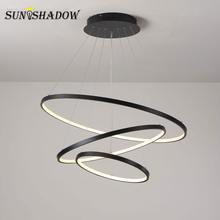 Светодиодный светильник для гостиной столовой кухни черного