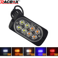 Ultra-thin flash warning lamp 8 leds Signal light Yellow Red White Daytime running light Fog light for Waggon Truck Private car(China)