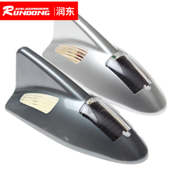 Car dual lamp flashover triple waterproof solar energy rear-end warning tail wing lamp 7-color YT-D03 image