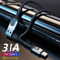 Кабель Jellico USB Type-C для Samsung S21 S10 3A, быстрая зарядка USB Type-C, зарядный Дата-кабель для Redmi note 8 pro, USB-C, провод