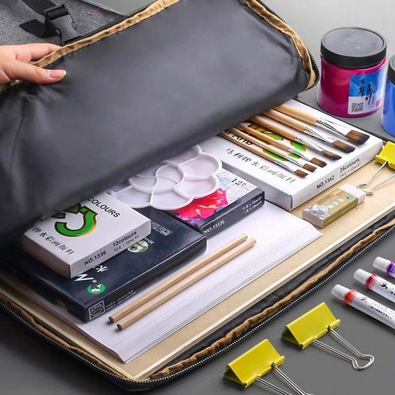 Sketch Storage Bag Large Capacity Student's Sketchpad Backpack Painting Tool Bag Multifunctional Portable Storage Art Supplies