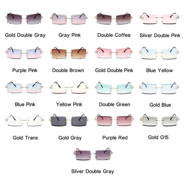 Gafas De Sol cuadradas De color rosa y morado para mujer, anteojos De Sol femeninos Retro De diseñador De marca, lentes rectangulares Vintage, pequeños 6