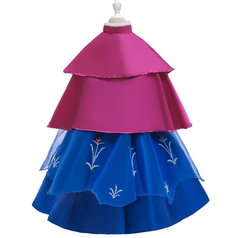 Hf51ba164c6f74fe190967e48e6dfa851y Send crown Baby Girls Dress Christmas Anna Elsa Cosplay Costume Summer Girl Princess Dress for Birthday Party Vestidos Menina