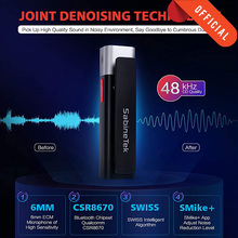 SABINETEK SmartMike + אלחוטי Bluetooth Vlog רדיו מיקרופון אמת זמן מיקרופון עבור iPhone Huawei Smartphone מחשב מצלמה Vlogger