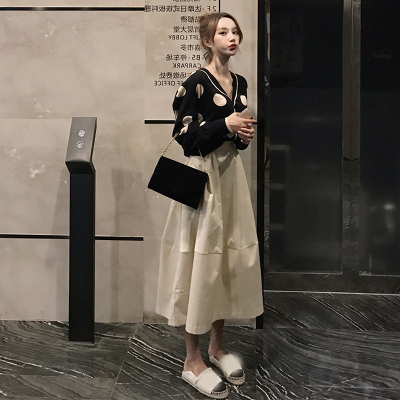 Online Celebrity Graceful French Very Fairy Two-Piece Set France Non-mainstream Victoria Western Style By Age Playful Suit Skirt