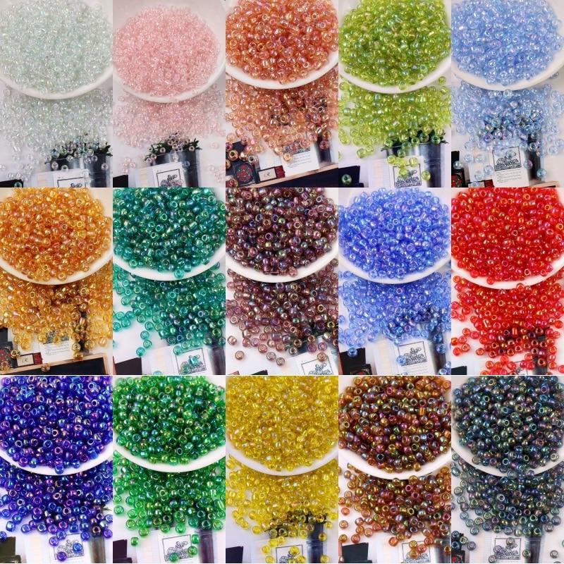 400 шт 3 мм 8/0 AB цветные Стекло Seedbead с украшением в виде кристаллов чешского Стекло круглые прокладные бусины для самостоятельного изготовлен...