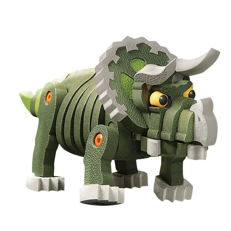 Children'S Foam Building Blocks Toys Early Childhood Educational Sponge Software 63Pcs Spelling Inserted Three Corners Dragon Mo