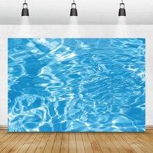 Laeacco fonds marins bleu eau piscine monde sous marin photographie arrière plans anniversaire décors Photophone pour Studio Photo
