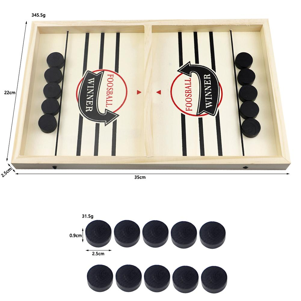 Himiss Family Games Table Hockey Game Catapult Chess Parent-child Interactive Toy Fast Sling Puck Game Ice Hockey Games for kids