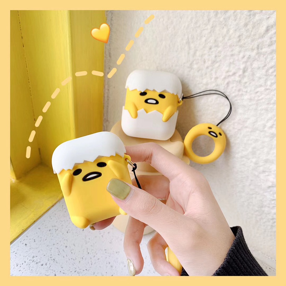 Color Bear Earphone Case for Airpods Cute Case Soft Silicone Earphone Cover for Airpods 1 2 Headphone Case Ring Strap Cover