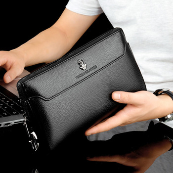 Men's Anti-theft Business Handbag  Coded Lock Day Clutch Male Big Capacity Long Wallet Phone Case Cards Holder - discount item  55% OFF Wallets & Holders